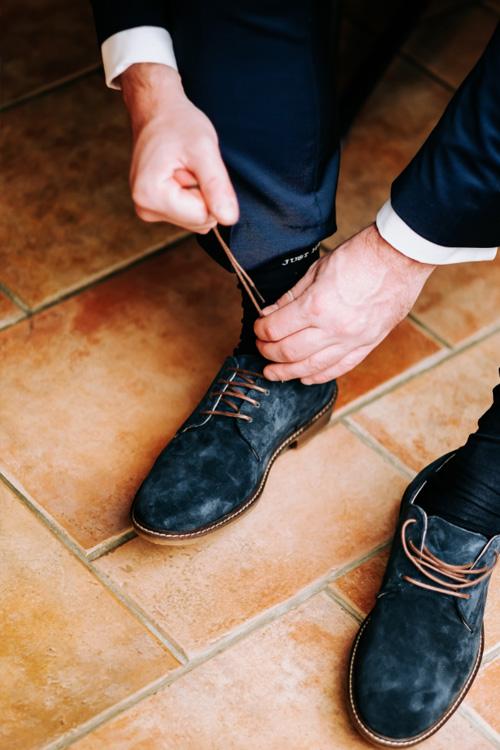 bruidegom strikt schoenen