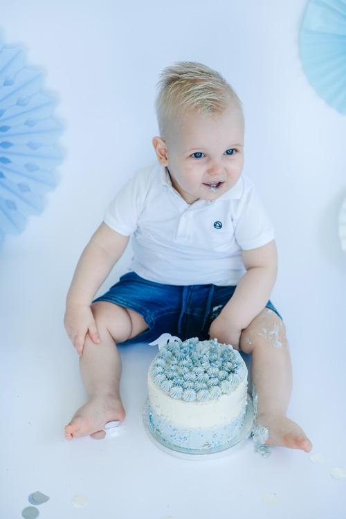 cakesmash zoon blauwe taart